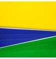 Abstract geometric background with Brazil flag vector image vector image