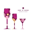 abstract textured bubbles three wine glasses vector image vector image