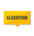 algorithm price tag vector image vector image