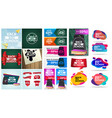 back to school a set posters and discount vector image