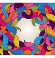 Background with frame of colorful twirls vector image vector image