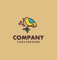 bird handrawn logo concept design vector image vector image