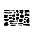 black paint ink line brushstrokes vector image vector image