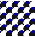 Black white blue pattern of circles vector image vector image