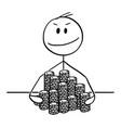 cartoon successful winner man or businessman vector image