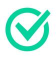 check mark sign checklist green marking logo vector image