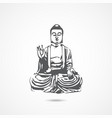 chinese buddha icon vector image