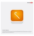 christmas candy cane icon orange abstract web vector image vector image