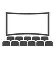 cinema hall icon movie theater entertainment vector image vector image