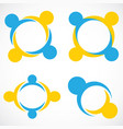 circle shape people teamwork symbol logo vector image