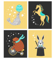 circus animal cute vector image