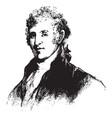 colonel david humphreys vintage vector image vector image