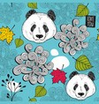 colorful seamless background with cute chinese vector image vector image