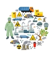 Ecological Problems Elements Composition vector image vector image