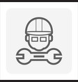 engineer wrench icon vector image