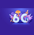 flat design 6g wireless high speed network vector image vector image