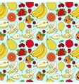 Fruit pattern sketch vector image