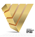 Golden Pyramid 3D Shape Abstract vector image vector image