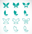 group butterfly vector image