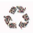 group people shape recycling vector image vector image