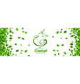 happy ganesh chaturthi festival banner in eco vector image vector image