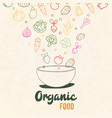 healthy vegetable food concept salad bowl vector image