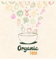 healthy vegetable food concept salad bowl vector image vector image