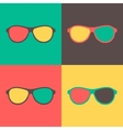Hipster sunglasses set vector image vector image