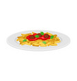 italian pasta with shaped alimentary products