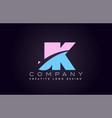 jk alphabet letter join joined letter logo design vector image vector image