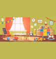 kindergarten interior daycare nursery with vector image vector image