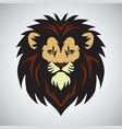 lion head mascot logo design vector image