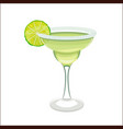 margarita cocktail in cartoon style vector image