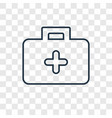 medical kit concept linear icon isolated on vector image