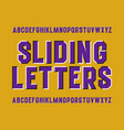 optical illusion alphabet sliding letters vector image
