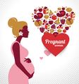 Pregnant woman silhouette vector image