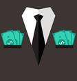 Professional suit with cash in pocket vector image vector image