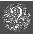 Question mark mosaic in the circle vector image vector image