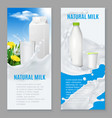 realistic dairy products banners vector image