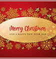 red and golden merry christmas background vector image vector image