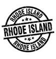 rhode island black round grunge stamp vector image vector image