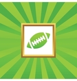 Rugby picture icon vector image