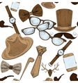 Seamless hand drawn hipster accessories pattern vector image vector image