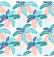 seamless pattern tropical palm leaves flat vector image vector image