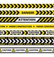seamless pattern yellow danger tape vector image
