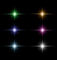 set of Star burst vector image vector image
