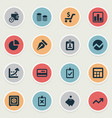 set simple banking icons vector image