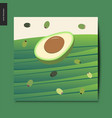 simple things - avocado vector image