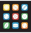 Sport balls flat design icons set vector image