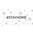 stay home coronavirus quarantine banner vector image